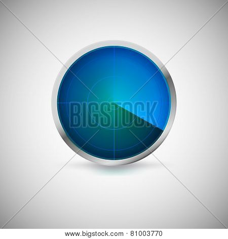 Radial screen of blue color.