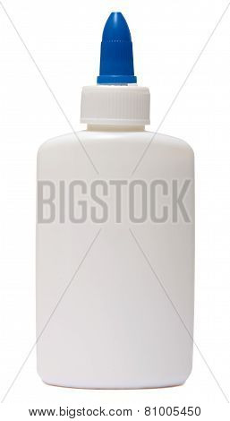 glue. plastic bottle isolated on white background.