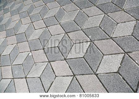 Sidewalk Pavement 3D Cubes