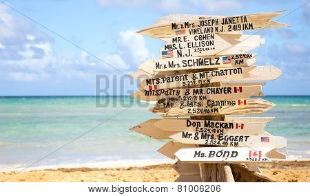 Funny Direction Signpost