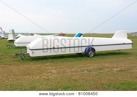 Trailer For Transportation Glider.
