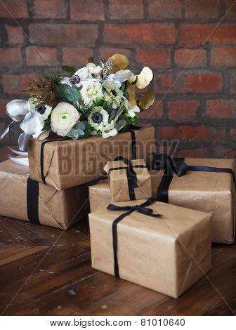 Wedding Bouquet On The Wedding Presents