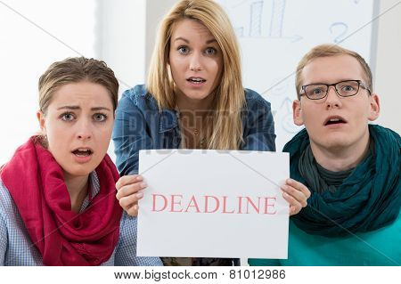 Business Team Missing A Deadline