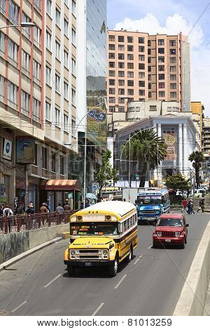 Villazon Avenue in La Paz, Bolivia