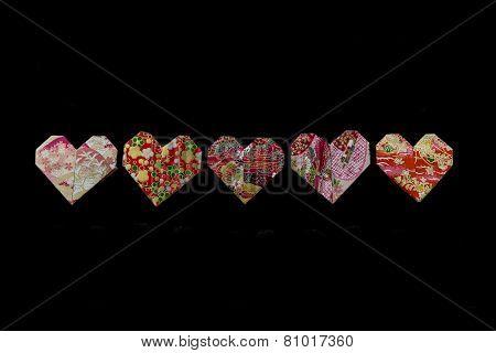 Origami Valentine Hearts