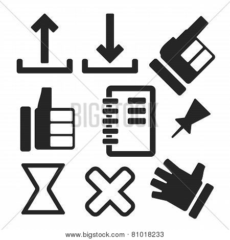 Interface Web And Mobile Icons. Vector.