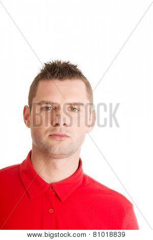 Handsome man clos up portrait