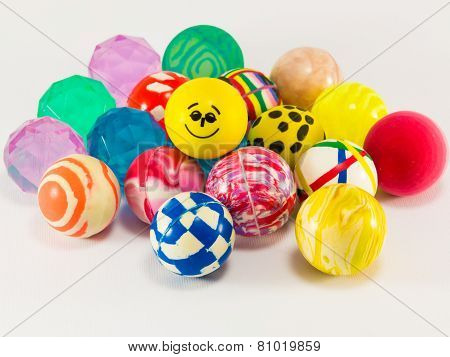 Group Of Colorful Bouncing Balls Toy