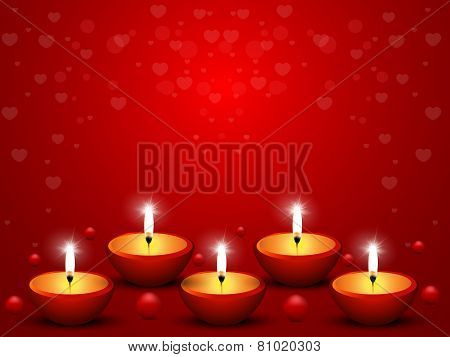 Candles On Valentine's Day