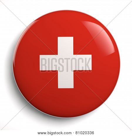 Red Swiss Flag