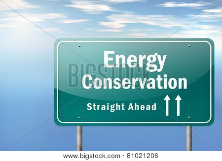 Highway Signpost Energy Conservation