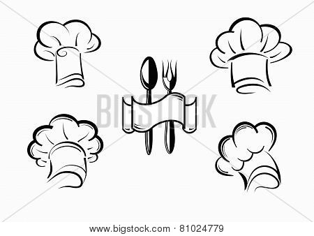 vector icons chefs and hubcaps