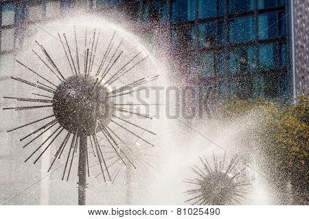 Fountain in Dresden Prager Strasse