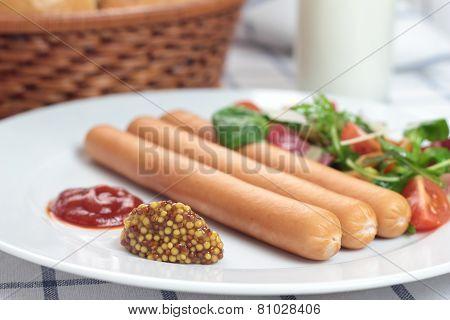 Wiener sausages.