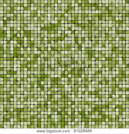 Seamless green mosaic background.
