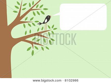 Tree and little bird