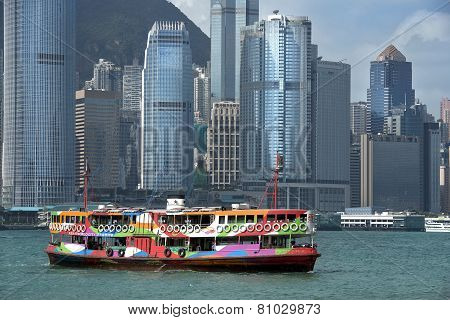 View Of Skyscrapers From Victoria Harbor, Hong Kong