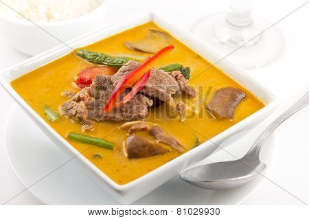 Thai Red Curry With Beef