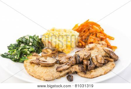 Pork Loins With Sauteed Mushrooms