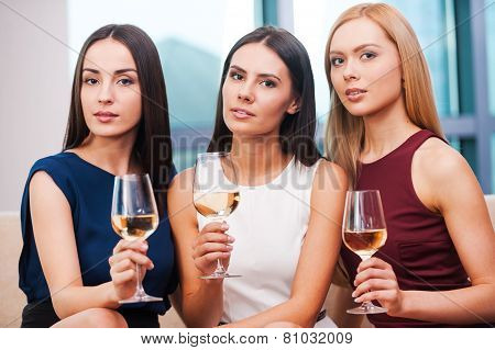 Beauties With Wine.