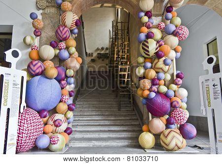 University Of Milan Main Staircase During The Milan Furniture Fair