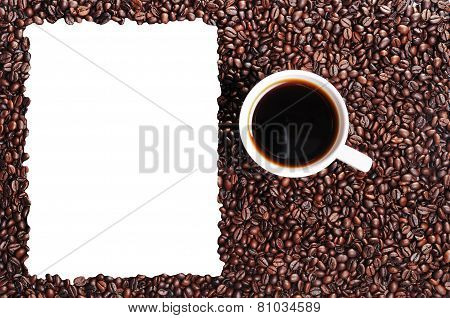 Coffee Bean And Coffee Cup With Window