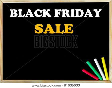 Black Friday Sale Text On Blackboard