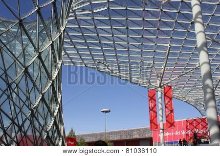 Architectural Detail Of The Milan Trade Fair  roof