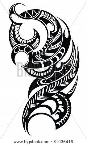 Maori styled tattoo pattern
