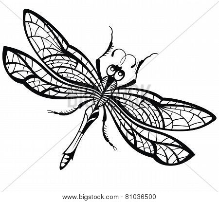 Abstract design of dragonfly