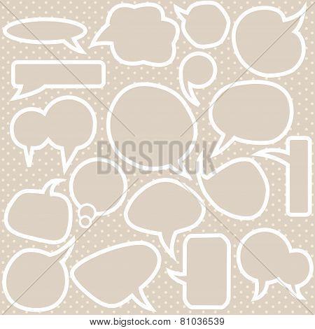 Set Of Various Bubbles Speech