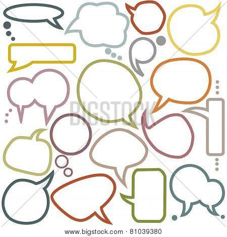 Set Of Various  Speech Bubbles
