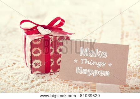 Make Things Happen Message Card!