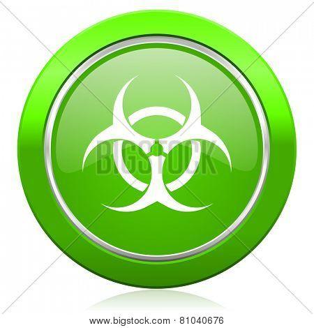 biohazard icon virus sign