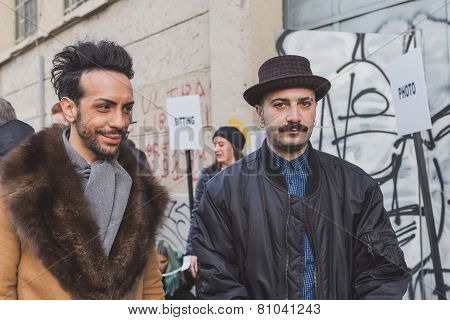 People Outside Dirk Bikkembergs Fashion Show Building For Milan Men's Fashion Week 2015
