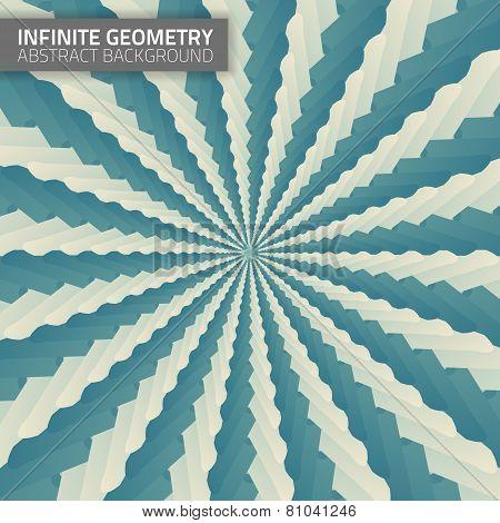 Infinite geometry. Fractal background.