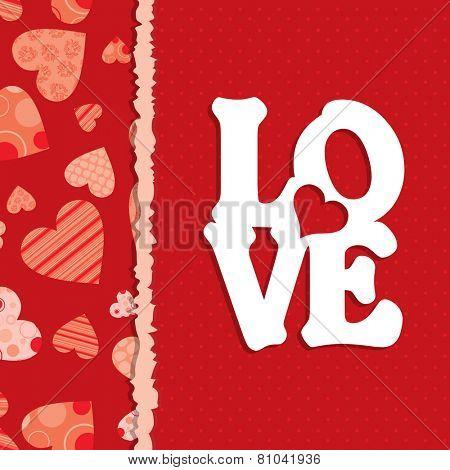 Template Valentine greeting card, vector illustration