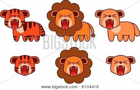 Tiger Puma Lion