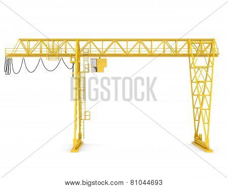 Yellow gantry bridge crane