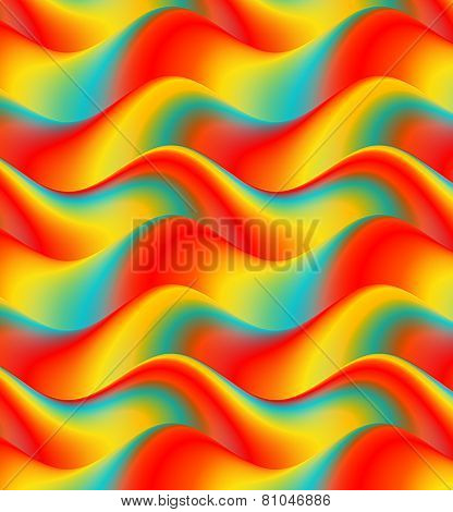Colorful Waves Background. Abstract waves in red,green,yellow,blue
