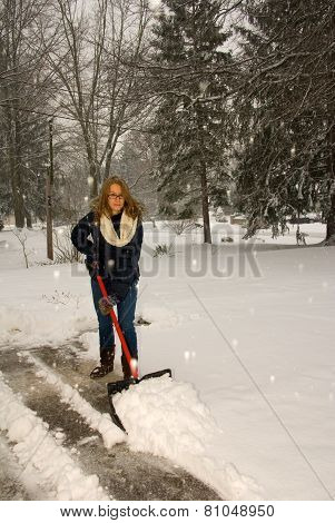 Shoveling Snow Like A Plow