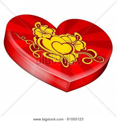 Hearts shape gift box