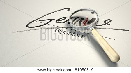 Genuine Fake Signature
