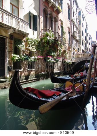the gondolas in venice. italy