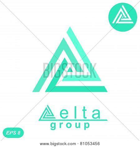 Delta Letter Logo Concept