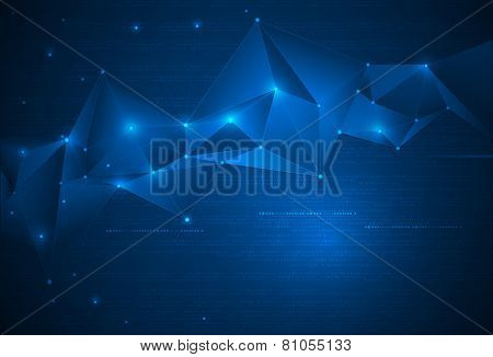 Abstract Technology Background With Cyberspace