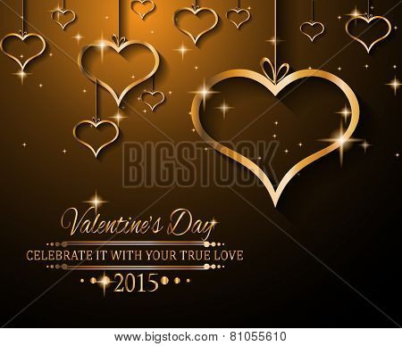 Valentine's Day background for dinner invitations, romantic letterheads, book covers, poster layout