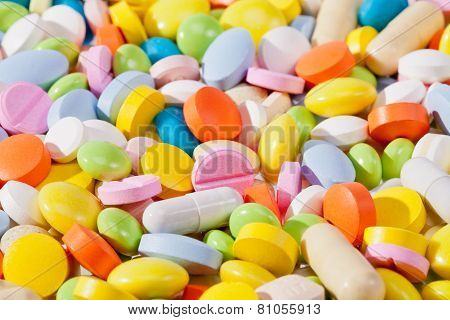 Background Of Colorful Pills