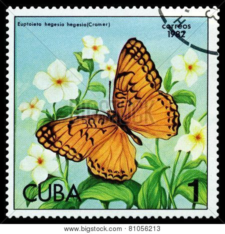 Vintage  Postage Stamp. Butterfly Cramer.