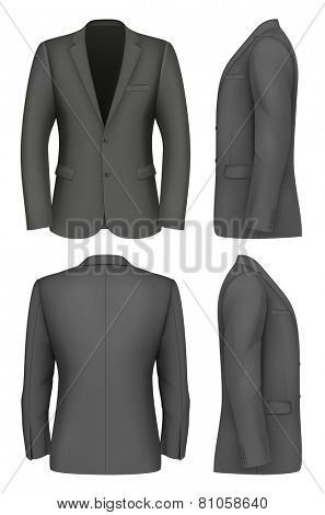 Formal Business Suits Jacket for Men. Vector illustration.